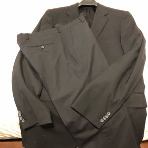 Men's Black wool suit. Jacket and pants